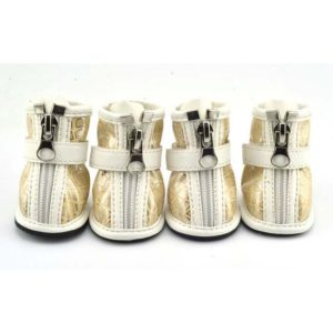 Silver Reticular Print Waterpro Shoes